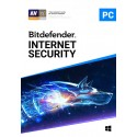 BITDEFENDER INTERNET SECURITY 2019 3 User, 1 Year