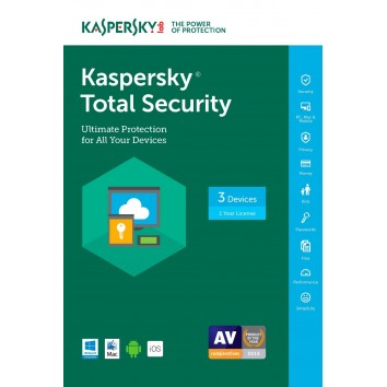 KASPERSKY TOTAL PROTECTION- MULTI-DEVICE 3 User+1,1 Year