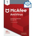 McAfee AntiVirus 1 User, 1 Year