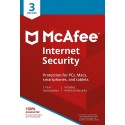 McAfee Internet Security 3 User, 1 Year