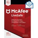 McAfee LiveSafe 2019 ,Unlimited Devices, 1 Year