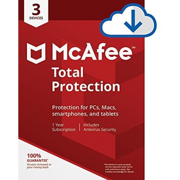 McAfee Total Protection 3 User, 1 Year